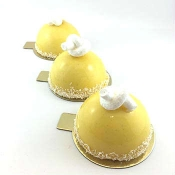 gold cake boards round