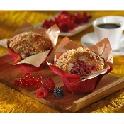 red fruit muffin